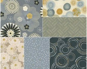 "Robert Kaufman SATSUKI VINTAGE Metallic Precut 5"" Charm Pack Fabric Quilting Cotton Squares CHS-466-42"