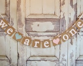 Twins banner, Boy & Girl twins banner,We are one Banner, Baby Birthday Banner, cake smash, First Birthday Banner,Birthday Photo Prop,garland