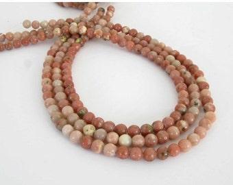 20% OFF - 6mm Lepidolite Beads, 6mm Round Lepidolite Beads, Full 15 Inch Strand, Pink Gemstone Beads, Le206