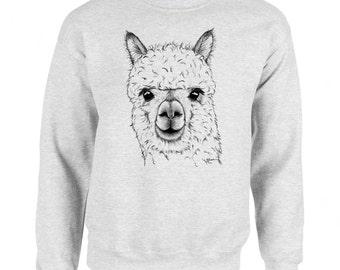Alpaca Art Men's Sweatshirt Small - 2XL