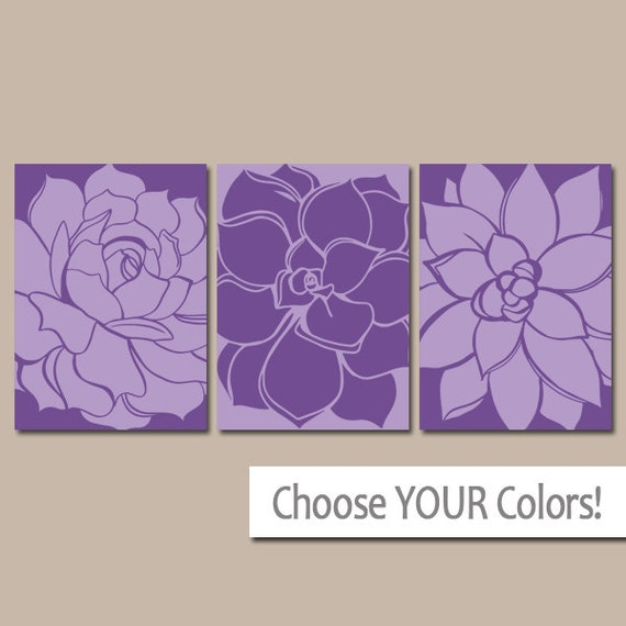 Purple wall art matching bedroom pictures canvas or by for Matching bedroom and bathroom sets