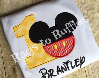 Boy's Birthday Mickey Shirt