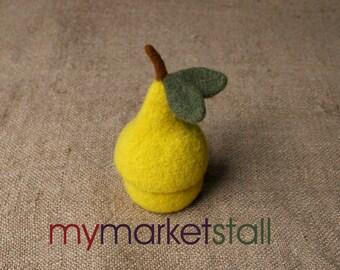 PATTERN -PDF Knitting Pattern for Felted Pear Jar with Removable Lid