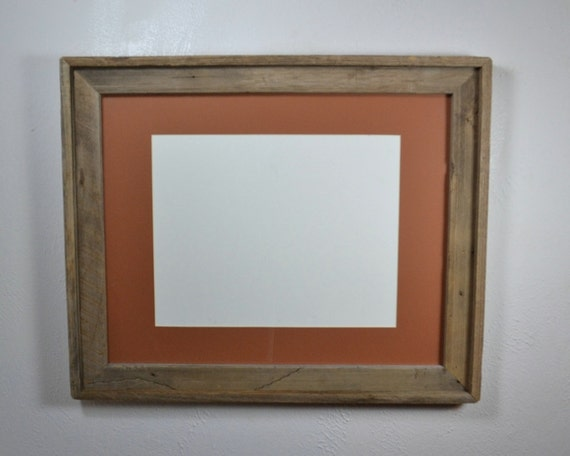 16x20 poster frame with mat 11x17 or 12x18 by barnwood4u