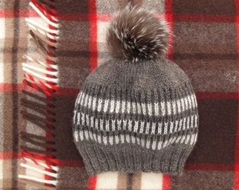 Knitting Pattern for Wild Turkey Feather Hat  KNITTING PATTERN PDF