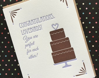 Letterpress Card - Congratulations Wedding