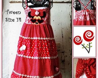 Tween Minnie Applique Dress