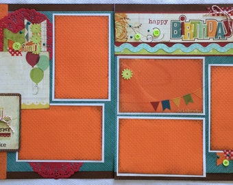 Happy Birthday to You! Scrapbook layout, two page layout, birthday scrapbook page,
