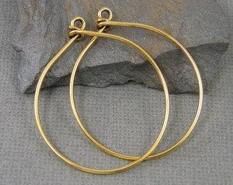 Large Antique Gold Hoop Earring Finding Wire Earring Components 16 Gauge |NU4-4|2 XN