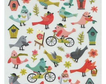 Bird Life Glitter Stickers • Bird Lover • Bird Sticker • Backyard Bird • Bird • Bird Watcher • Bird Love • Cute Sticker (SK4551)