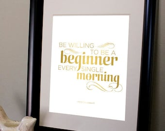 Be A Beginner - Typographic Print 8 x 10 Digital Download