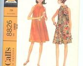 Vintage McCalls  Easy Misses  DRESS  Sewing Pattern  8826  Miss Size Large   18-20  Uncut
