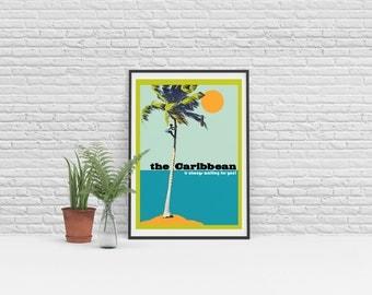 Art Print - Vintage - Giclée - Art Print A3 The Caribbean