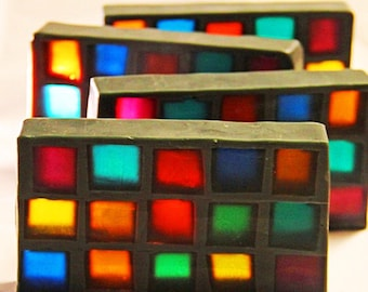 "Stained Glass Soap called ""Cathedral"""