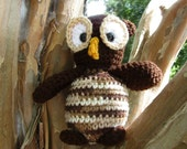Plush Owl, Amigurumi Owl, Soft Toy Owl, Ollie the Crocheted Owl, Stuffed Animal Owl. Owl Softie