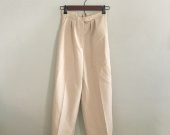 Vintage tan ankle button pants 24 waist