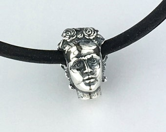 Zombie Beads Frida Kahlo Mexican Artist Sterling Silver Bead