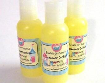 Summer Cottage Body Wash Bubble Bath Shower Gel 2 Oz. Travel Size Bubble Me Up