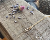 delicate safety pin gold filled necklace- Handmade SimaG jewelry