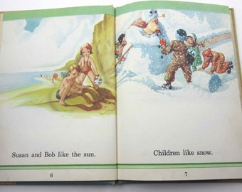 Sunshine and Rain Vintage 1930s Children's School Science Reader or Text Book