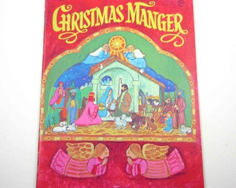 Unused Christmas Manger Press Out Book Vintage 1970s Christmas Activity Book for Children by Whitman