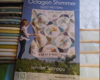 Octagon shimmer quilt kit with pattern