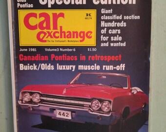 Car Exchange Magazine April 1984 Antique Cars Corvette Spectacular 1955 Chevy Vette 1948 Cadillac 1955 Chevy Bel Air MidCentury Americana