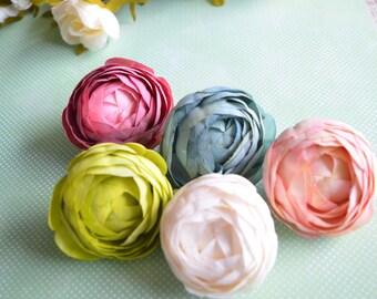 Silk Rose Flower Hair Clip, Bridal Hair Flower, Pink Wedding, Pink flower hair clip, Rose hair flower, Bridal Hair accessories, Ranunculus
