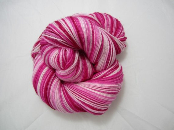 Pinks - Dyed to Order - Hand Dyed - Merino Wool Yarn - Fingering Weight