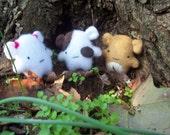 Kids toys plush stuffed miniature baby hamsters Winston buddy-pack