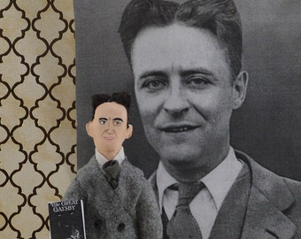 F. Scott Fitzgerald Doll Miniature The Great Gatsby Author Classic Literature Writer