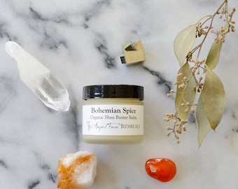Bohemian Spice Organic Shea Butter Balm - Rich, Buttery Moisture for Dry Skin - Organic 2 oz - Seen in Etsy Finds