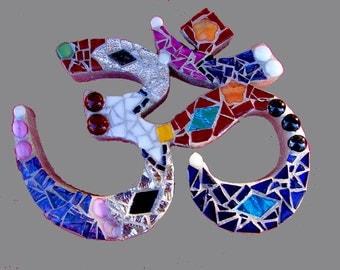 Mosaic Om Desk Shelf or Wall Art