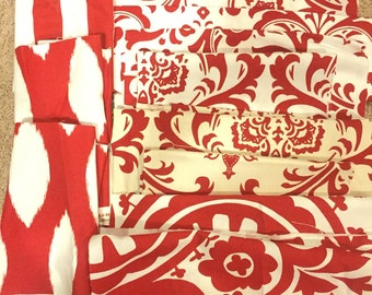 Premier Print Coordinating Red Fabric Scraps