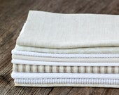 Neutral Cloth Napkins- 10 Cloth Napkins-  FREE SHIPPING