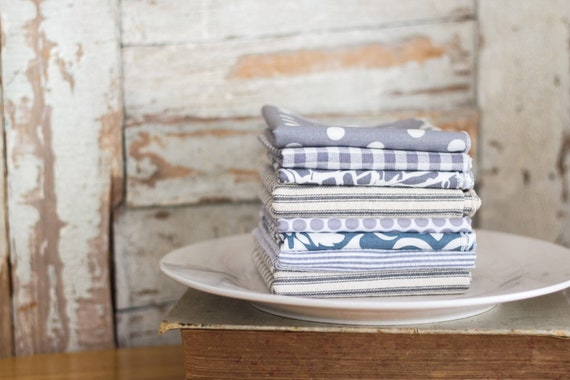 Gray Color Cloth Napkins by Dot and Army- set of four