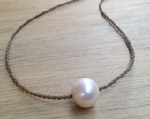 white pearl polynesian roping necklace / waterproof / surfproof / kidproof / everyday & anywhere / minimalist beauty / tula blue