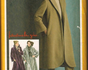 1980 Simplicity 9718 Pauline Trigere Designer Jacket Skirt Pants Sewing Pattern Sizes 12 UNCUT Tent Coat