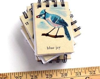 Vintage Wildlife Animal Bingo Card Notepads Set of 6