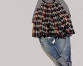 SALE Plaid Flannel Cotton Jumper Swing Dress