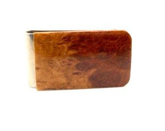 Handmade Wood Money Clip Australiian Horistes Burl Wood
