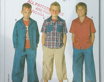 Burda Boys Shirt Pattern 9700