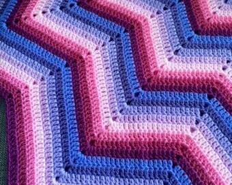 12-pointed Star Crochet Baby Blanket