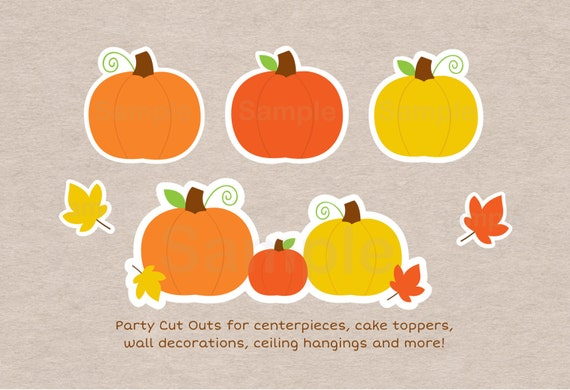 Pumpkin cut outs pumpkin baby shower pumpkin for Baby shower decoration cutouts