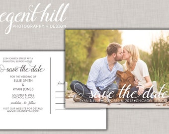 Printable Save the Date Postcard - the Ellie Collection