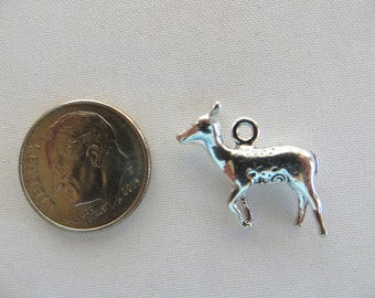 Deer Charm, Sterling Silver Charms