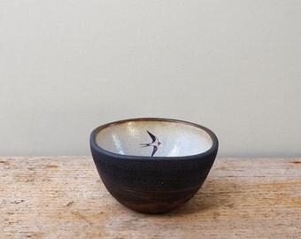 Small Black Ceramic Swallow Bowl