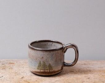 Dark Pine Trees Espresso Cup