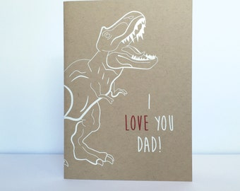 Dino Dad Fathers Day Card