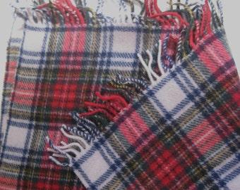 Classic Plaid Throw . Tartan Wool Blanket . made in Italy . tartan throw .